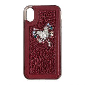 чехол-накладка для смартфона iPhone X «Бабочка»